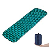 AIRSSON Inflatable Sleeping Pad for Camping Backpacking Ultralight Compact Air Mat Lightweight Sleeping Mat Outdoor Hiking Mattress (Blue)