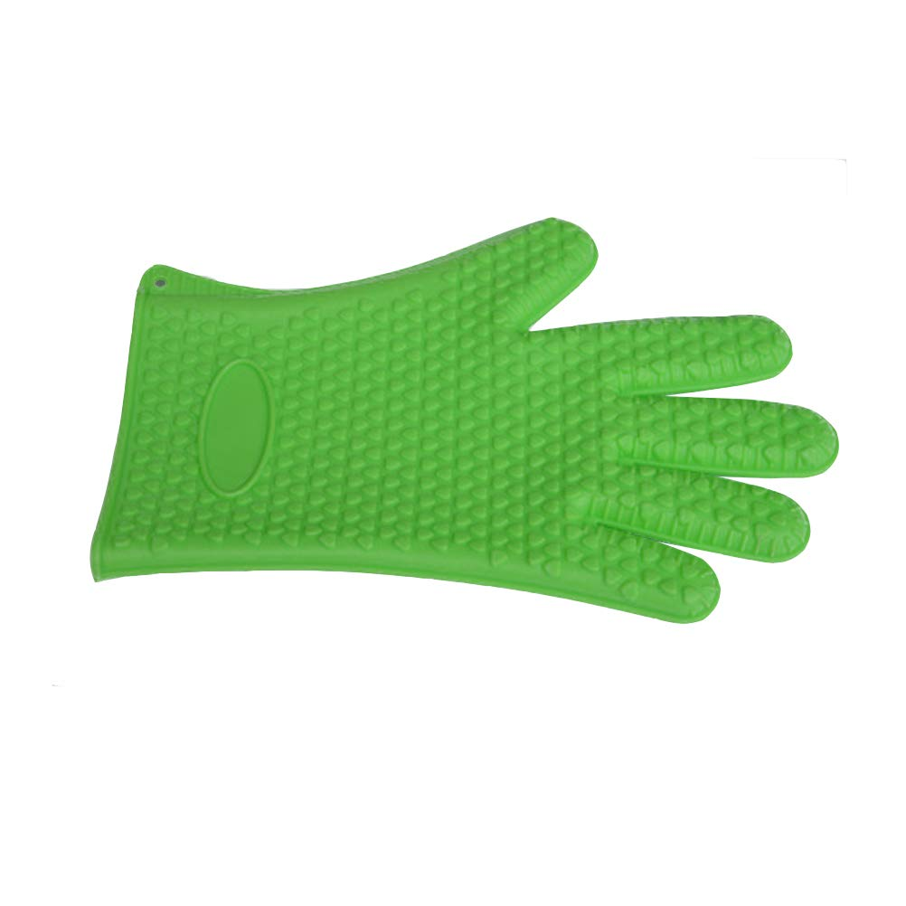 wlsomegoo Non-slip Silicone Gloves Insulated Five-finger Thicken Gloves