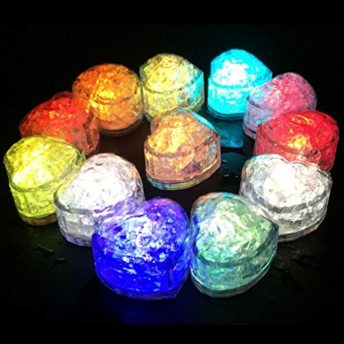 M.best 12Pcs Multi-Color Flashing Glow in The Dark LED Light Up Ice Cubes for Event Party Favors Supplies Decoration]()