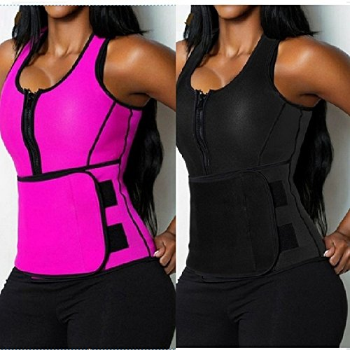 shoppingmal 2018 Women Sweat Neoprene Sauna Waist Trainer Vest Hot Shaper Sport Vest Slimming Adjustable Sweat Belt