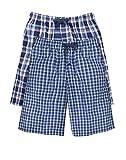 Hanes Men's 2-Pack Woven Pajama Short, Light Blue Plaid