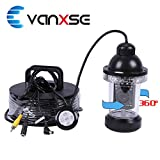 Vanxse Underwater Fish Camera Sony CCD 800tvl Hd Underwater Video Camera 50m(165ft) Cable Fish Finder 360 Degree View Fish finder video camera