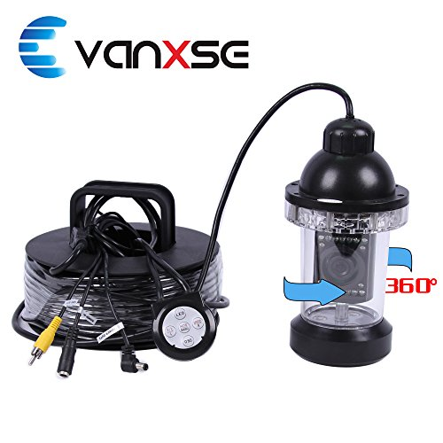 Vanxse Underwater Fish Camera Sony CCD 800tvl Hd Underwater Video Camera 50m(165ft) Cable Fish Finder 360 Degree View Fish finder video camera by Vanxse