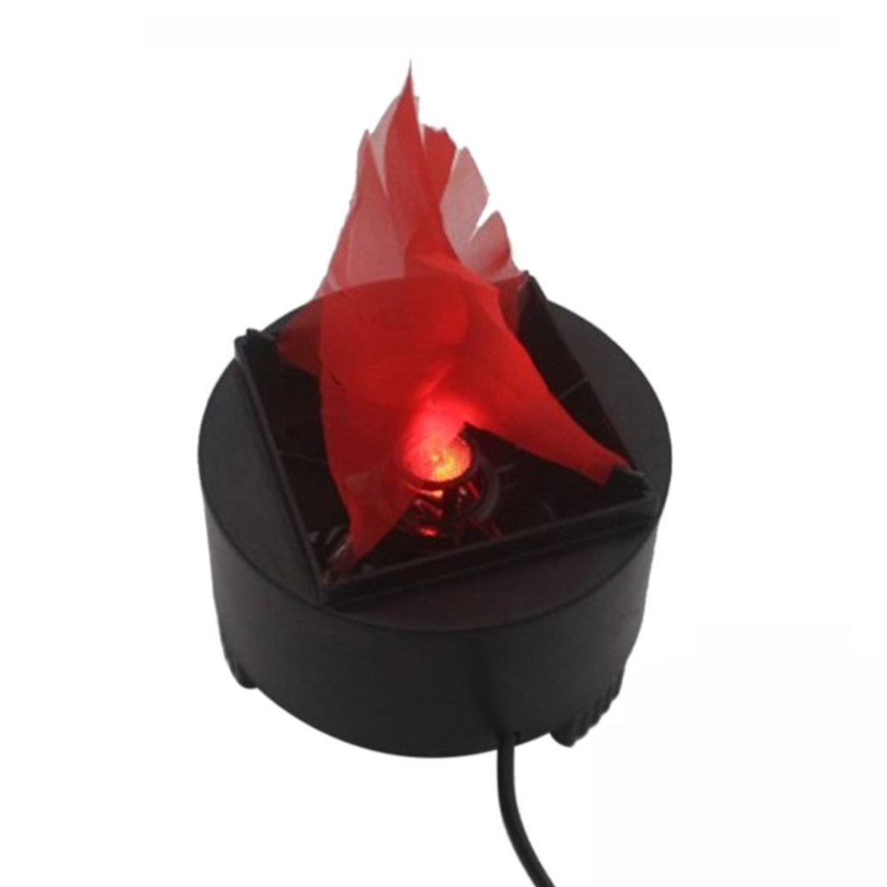 110V LED Artificial Flame Light Electric Simulated Flame Effect Light Torch Light Stage Lamp Prop for Stage Performance, Bar, Night Clubs, Back Yard, Halloween Christmas Party Decoration by Rely2016