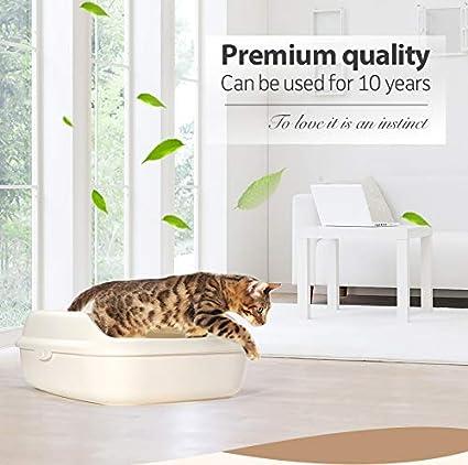 BPS Vassoio Gatti Gattini Toilette con Aperto per Vassoio Gatti Domestici Sanitaria Plastica con Racchetta 3/Misure E Colori per Scelta
