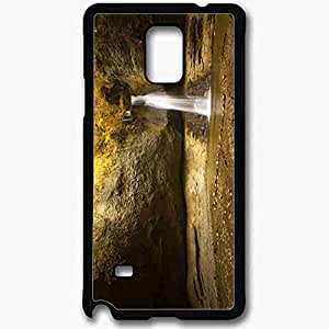 Unique Design Fashion Protective Back Cover For Samsung Galaxy Note 4 Case Beautiful Waterfall Backgrounds Beautiful Black