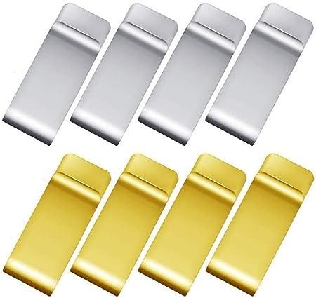 8 pezzi banconote argento e oro per carte di credito Voarge per uomo e donna regalo di compleanno Fermasoldi in metallo