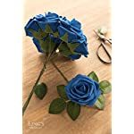 Lings-moment-Artificial-Flowers-Royal-Blue-Rose-50pcs-Real-Looking-Fake-Roses-wStem-for-DIY-Wedding-Bouquets-Centerpieces-Bridal-Shower-Party-Home-Decorations