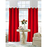 1 Piece 96 Inch Maroon Color Gazebo Curtain Single Panel, Dark Red Solid Color Pattern Rugby Colors Outside, Outdoor Pergola Drapes Porch Deck Cabana Patio Screen Entrance Sunroom Lanai