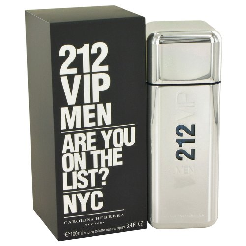 Carolina Herrera 212 Vip Eau De Toilette Spray for Men, 3.4 Ounce