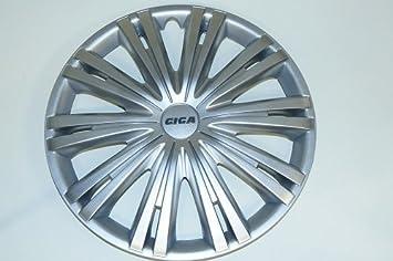 Tapacubos Tapacubos de Rueda Giga Silver plata 16 pulgadas Juego de 4, Opel Audi