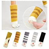 20PCS (5 Sets)Chair Socks with Cute Cat Paw Design,Reduce Noise, Knitting Furniture Leg ,Furniture and Floor Protector, (5 Sets of Different Colors)