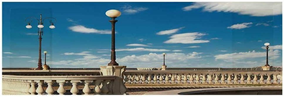 "Italian Decor Dustproof Electric Oven Cover,Mascagni Terrace Street Promenade of Livorno Tuscany Print Cover for Kitchen,36""L x 12""W"