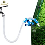 Aquarium Hose Holder --- Tank maintenance tool encourages frequent water change - Non slip pipe mount tube - Makes fish tank cleaning easy - Adjustable bracket fits most pipes - Attaches with vice