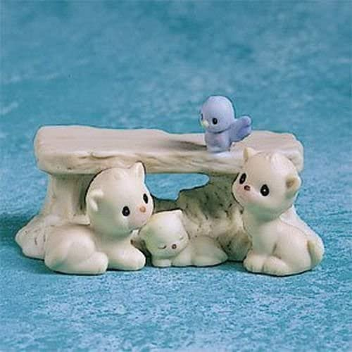 Precious Moments 291293 Enesco Mini Nativity Bench with kittens