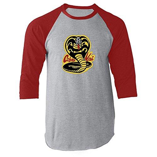 Cobra Kai Karate Dojo Red M Raglan Baseball Tee -