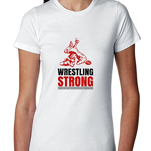 Wrestling Strong - Iconic Graphic Women's Cotton T-Shirt by Hollywood Thread