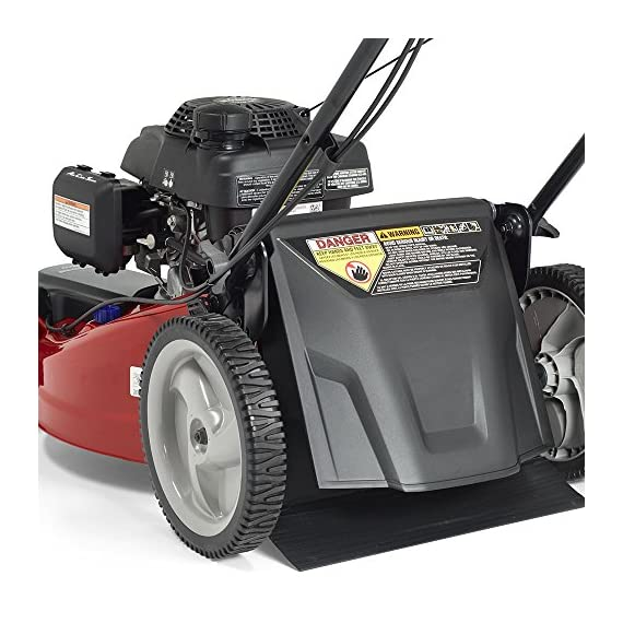 Jonsered L2821, 21 in. 160cc GCV160 Honda 3-in-1 Walk Behind Front-Wheel-Drive Mower 2 Powered by 160cc Honda GCV160 engine with 6.9 ft-lbs Gross torque Dual trigger control system allows you to operate with either hand, or split the effort between both. High-tunnel cutting deck design delivers premium cut quality and bagging performance while providing a close trim, every time.