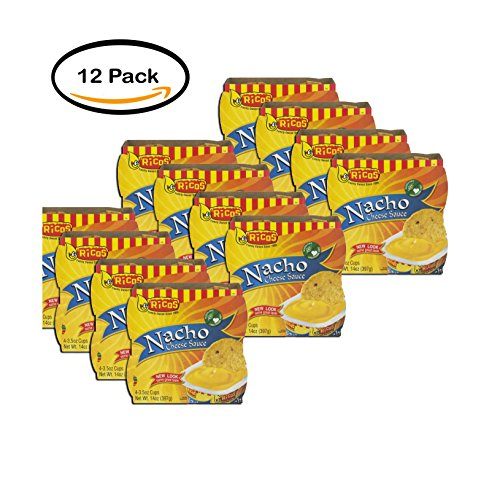 Cups Cheese Nacho (PACK OF 12 - Ricos Nacho Cheese Sauce Cups - 4 CT)
