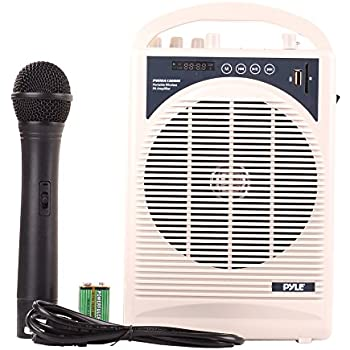upgraded pyle professional portable pa system amplifier with built in handheld vhf. Black Bedroom Furniture Sets. Home Design Ideas