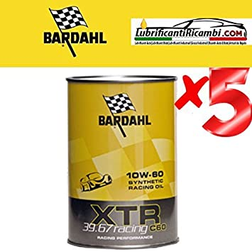 El aceite de motor de auto XTR 39.67 c60 Racing 10W-60 -formulato automovilismo o de alta potencia - Oferta 5 Litros: Amazon.es: Coche y moto