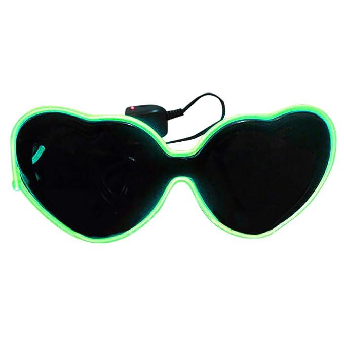 Amazon.com: FEDULK - Gafas LED unisex para fiesta, luz ...