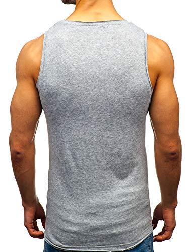 Manches Col Sans – Homme 1205 T Imprimé Bolf 3c3 shirt Rond Débardeur Gris wxaq0nXT