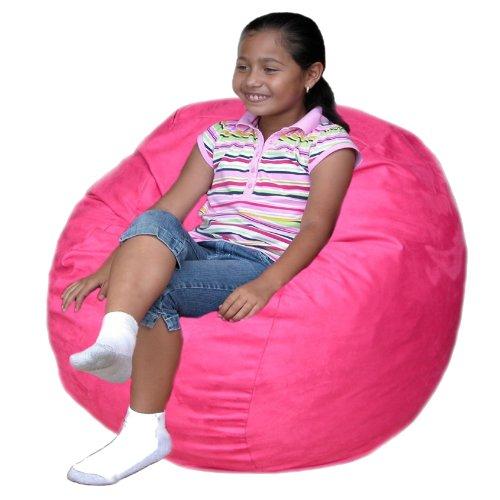 Cozy Sack 2-Feet Kids Foam Bean Bag Chair, Small, Hot Pink