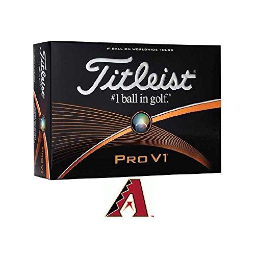 Titleist Pro V1 Prior Generation MLB Golf Balls 1 Dozen Arizona White