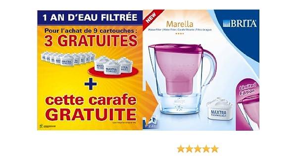BRITA 1006120 Pack 1 Filtro de alimentación: Pack de 9 Cartuchos Maxtra 3 x 1 x Marella Jarra Rosa: Amazon.es: Hogar