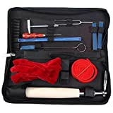 Piano Tuning Kit, Aibay 10 Piece Professional Piano Tuner Tools Including Tuning Hammer Mute Wrench Hammer Handle Kit Tools and Case