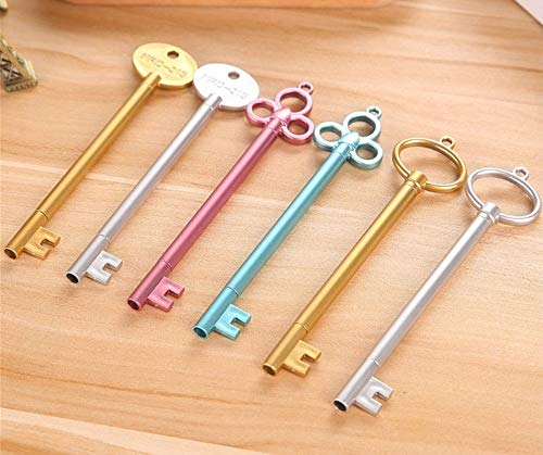 Oytra 12 Pieces Key Theme Blue Ink Gel Pen Set Kawaii School Supplies Office Stationary