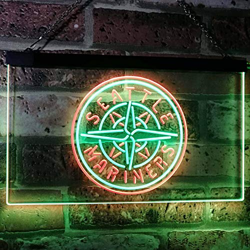 ZAKAKU SM Baseball Sport Two Color LED Neon Sign Green and Red w16 x h12
