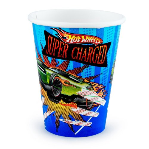 Amscan Hot Wheels Speed City 9-Ounce Paper Cups, 8-Count