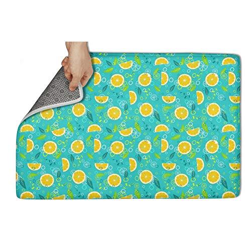 alized Door Mats 5080 cm Bathroom Fruit Mix Lemonade Diet Carpet Entrance Rug Hello Floormat Non Slip Super Absorbtion ()