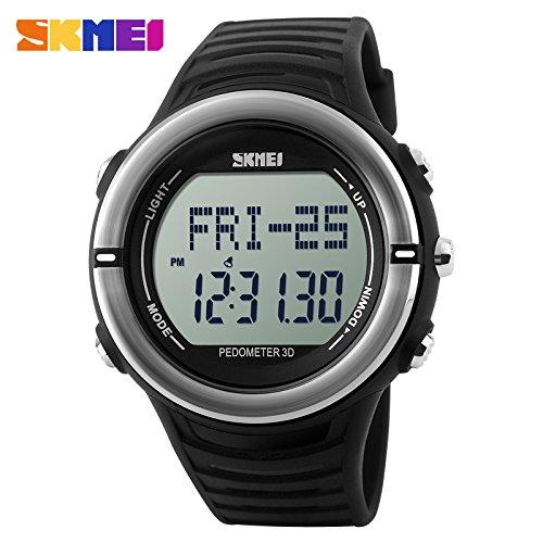 Las mujeres reloj Digital Monitor de frecuencia cardíaca Fitness Tracker Healthy Fit podómetro Relogio Masculino resistente
