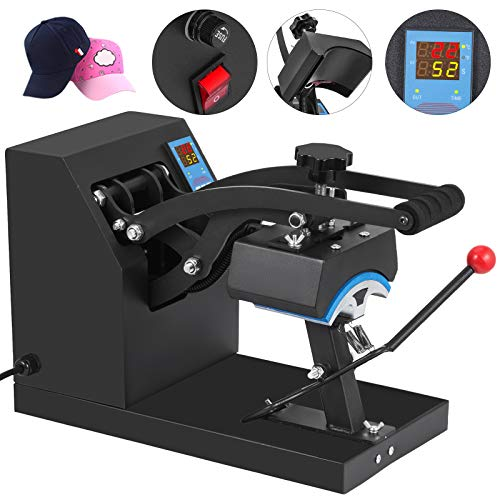 - VEVOR Heat Press 6x3.75Inch Curved Element Hat Press Clamshell Design Heat Press for Hats Rigid Steel Frame No Stick Digital LCD Timer and Temperature Control (6x3.75Inch Clamshell Design)