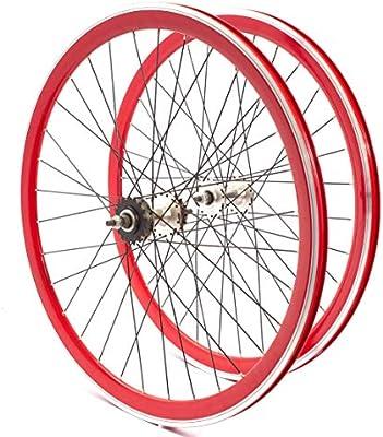 KHE Fixie 700c - Juego de Ruedas para Bicicleta (40 mm, Triple ...