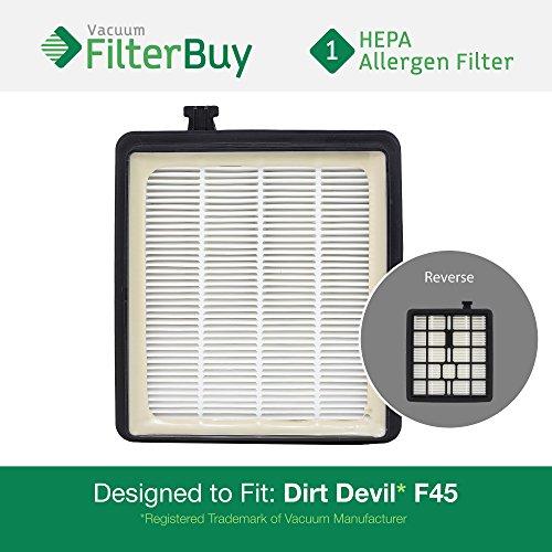 FilterBuy Dirt Devil F45  Replacement HEPA Filter, Part # 2K