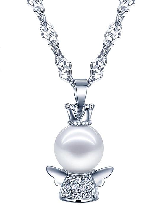 13 opinioni per Collana con ciondolo angelo custode per donne e bambine, Yumilok, in argento