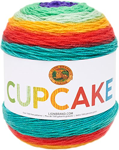 Lion Brand Yarn 935-203 Cupcake Yarn, Jelly Bean