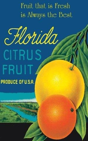 Florida Orange Citrus Fruit Crate Label Fresh and Always the Best. Vintage Style .15