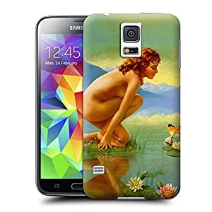 Tostore Fashion girl#13 battery cover for samsung galaxy s5 case