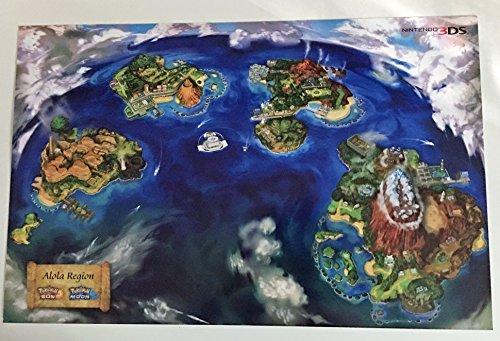 POKEMON ALOLA REGION D/S 11x17 Original Promo Poster SDCC 2016 Sun & Moon