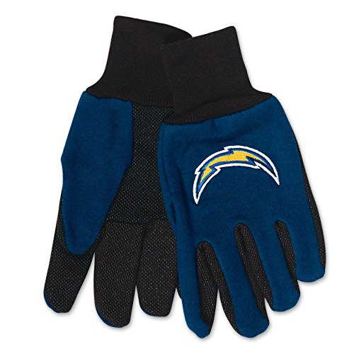 WinCraft NFL San Diego Chargers Two-Tone Gloves, 2-Pack, Blue/Black ()