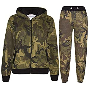 A2Z 4 Kids® Kids Girls Boys Plain Tracksuit Hooded Hoodie Bottom Back to School Jogging Suit Joggers New Age 2 3 4 5 6 7…