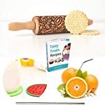 """Paisley Embossed Rolling Pin 16"""" Engraved Rolling Pin for Baking + Cute and Lightweight Wooden Rolling Pin for Kids and Adults to Make Cookie Dough – Attractive Professional Cookie Angel Food 14 START HAVING FUN IN THE KITCHEN WITH ALL YOUR FAMILY. Our textured rolling pin 16 Inch is very easy to use, so have some fun using this engraved rolling pin with your whole family. This embossed rolling pin can be used for fancy pastry decorations, cake decorations, shortbreads, basic biscuits, play dough, and even clay. This wood rolling pin can also be used as a kid's toy. EASY TO CLEAN:You only need to wash under running water and dry in the air,they will not take up too much space in the kitchen drawer ROLLING-PINS can be a really nice housewarming and pretty gift for your friends, kids and your kitchen."""