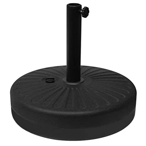 Blissun 22l Round 20 Water Filled Patio Umbrella Base Stand Self Filled Patio Furniture Suit For Dia 38mm Or 48mm Umbrella Pole Black