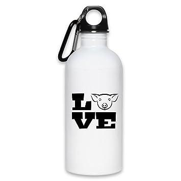 Love Pigs - Botella de agua divertida