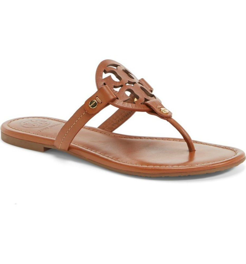 Tory Burch Miller Metallic Sandal Womens (8, Vintage Vachetta)